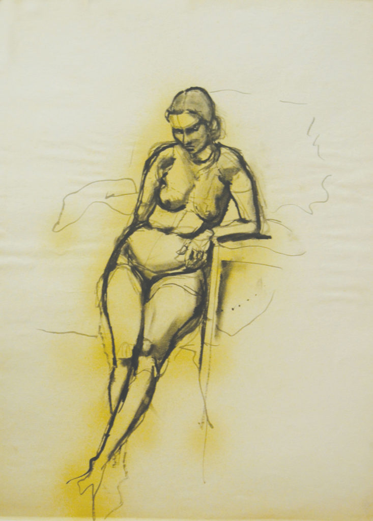 <em>Untitled</em>. Ink and crayon on paper, 22 x 30 inches, 1962-63