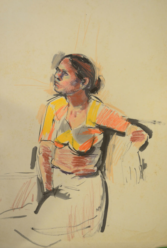 <em>Untitled</em>. Crayon and ink on paper, 22 x 30 inches, 1962-63