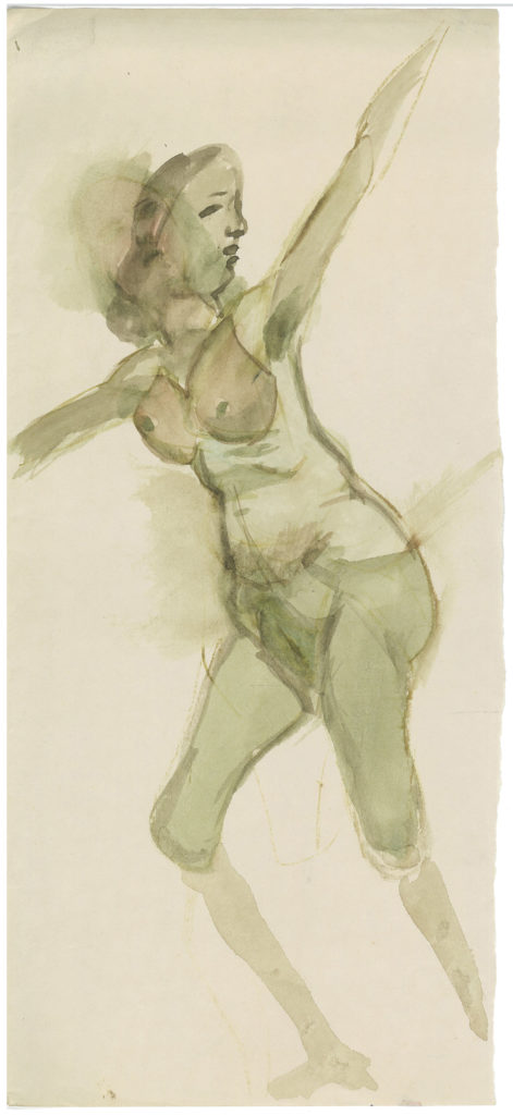 <em>Untitled</em>. Watercolour on paper, 6 x 13 inches,1984-85