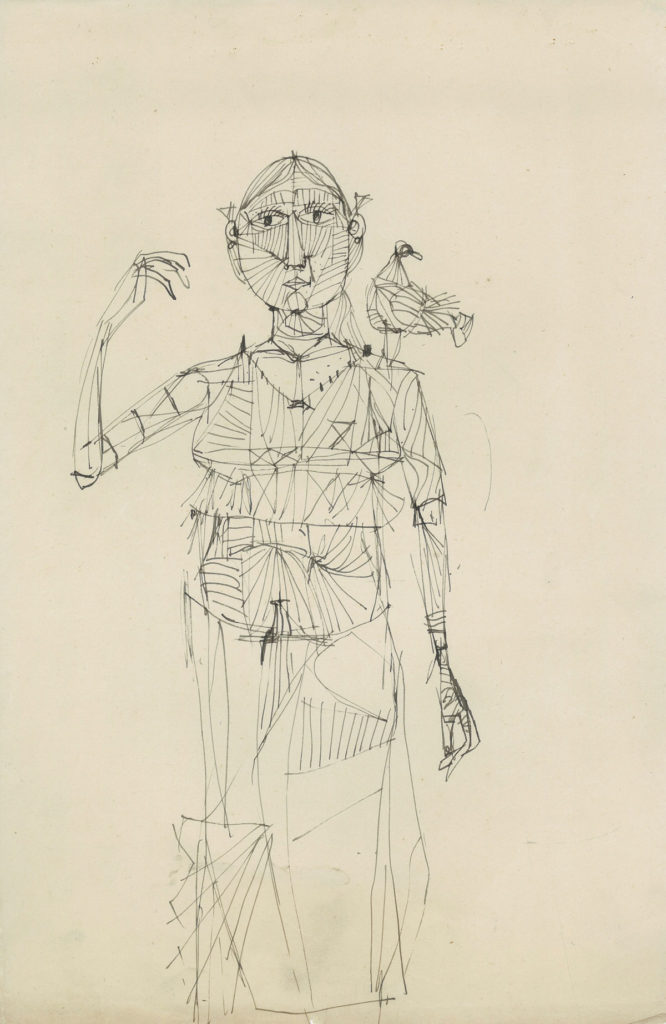 <em>Untitled</em>. Pen and ink on paper, 9.5 x 14.75 inches,1959–60