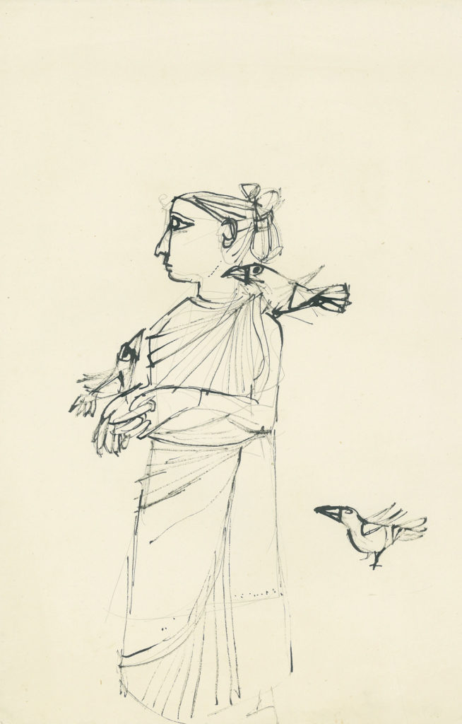 <em>Untitled</em>. Pencil, pen and ink on paper, 9.5 x 14.75 inches, 1959-60