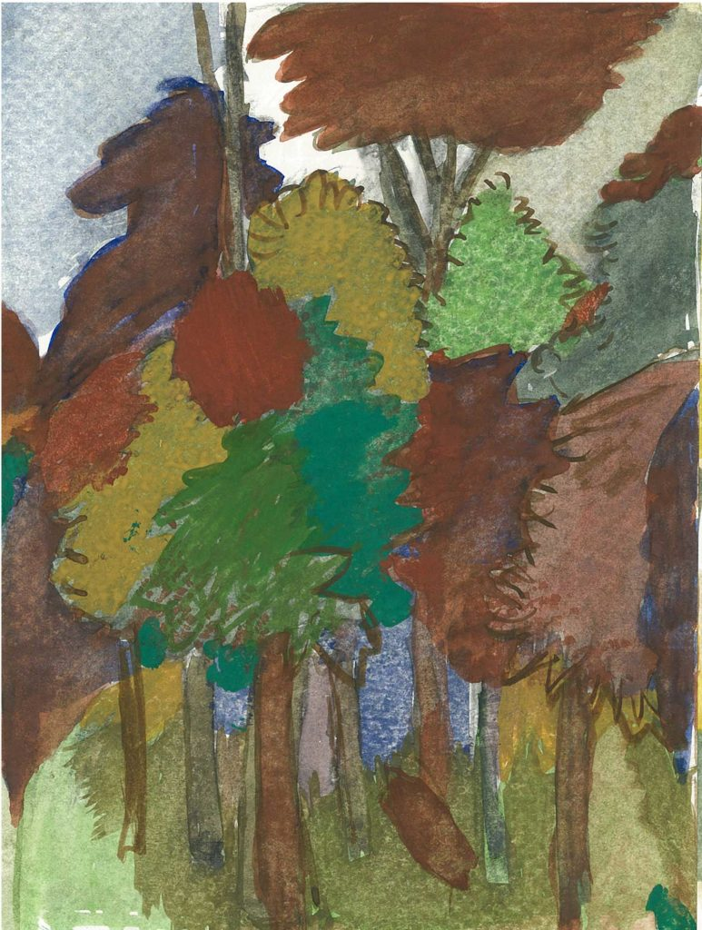 <em>Oxford 111</em>. Watercolour on paper, 7 x 9 inches, 1987/88