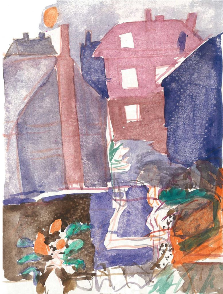 <em>Oxford 117</em>. Watercolour on paper, 7 x 9 inches, 1987/88