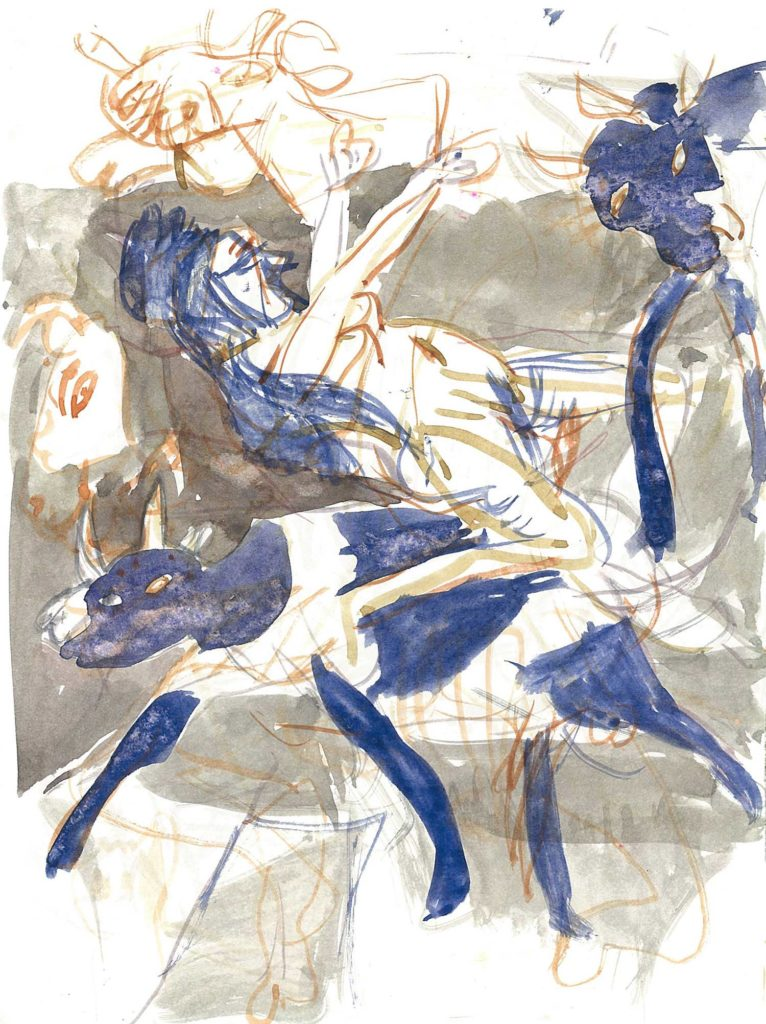 <em>Oxford 123</em>. Watercolour on paper, 7 x 9 inches, 1987/88