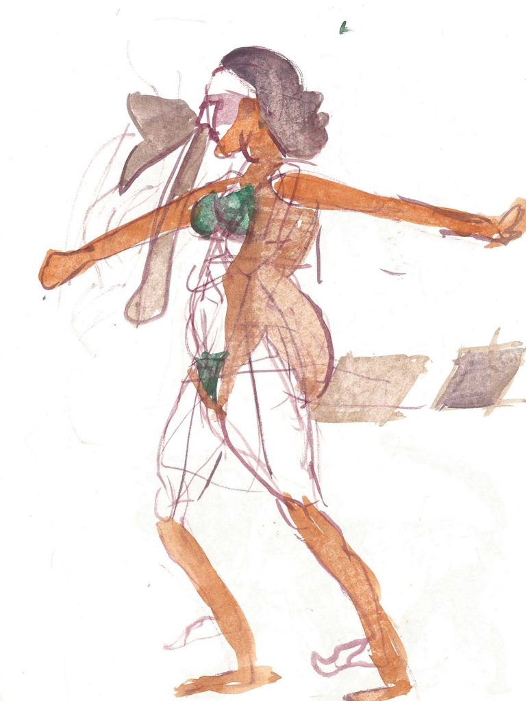 <em>Oxford 126</em>. Watercolour on paper, 7 x 9 inches, 1987/88