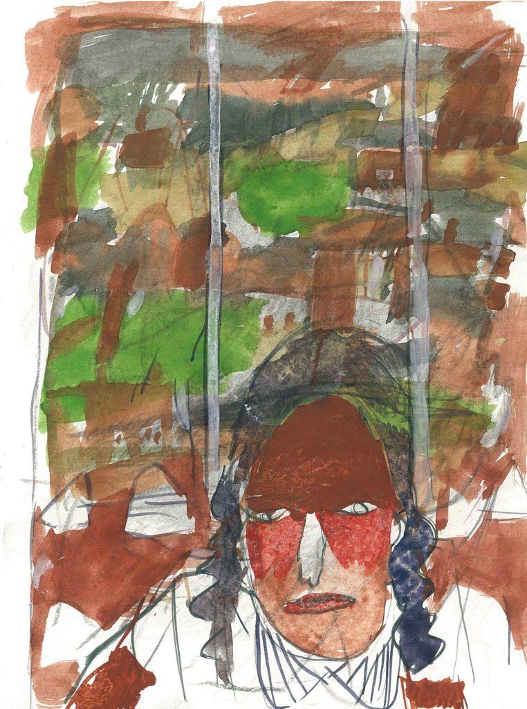 <em>Oxford 128</em>. Watercolour on paper, 5.75 x 8.25 inches, 1987/88