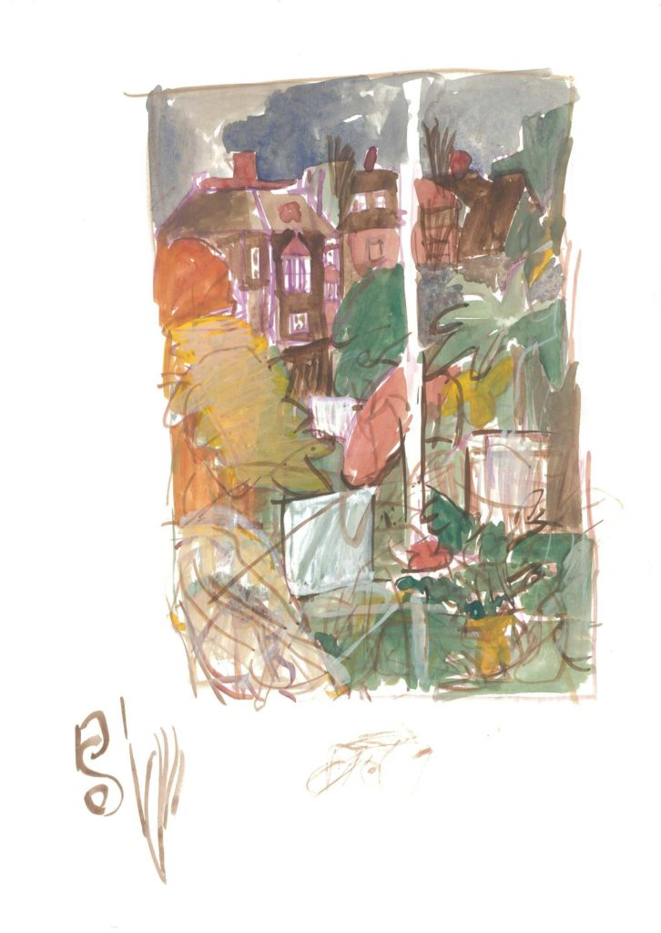 <em>Oxford 16</em>. Watercolour on paper, 8.25 inches x 11.5 inches, 1987/88