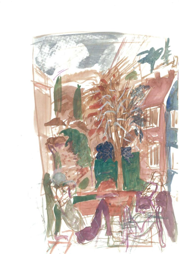 <em>Oxford 17</em>. Watercolour on paper, 8.25 inches x 11.5 inches, 1987/88