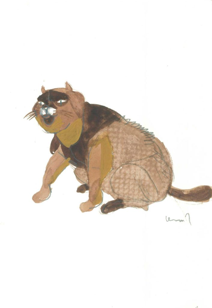 <em>Oxford 20</em>. Crayon and watercolour on paper, 5.75 x 8.25 inches, 1987/1988