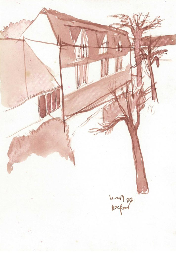 <em>Oxford 22</em>. Watercolour on paper, 5.75 x 8.25 inches, 1988