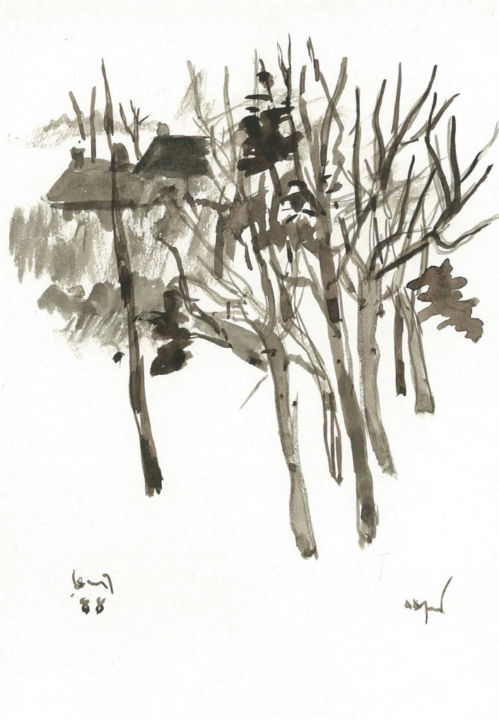 <em>Oxford 26</em>. Watercolour on paper, 5.75 x 8.25 inches, 1988
