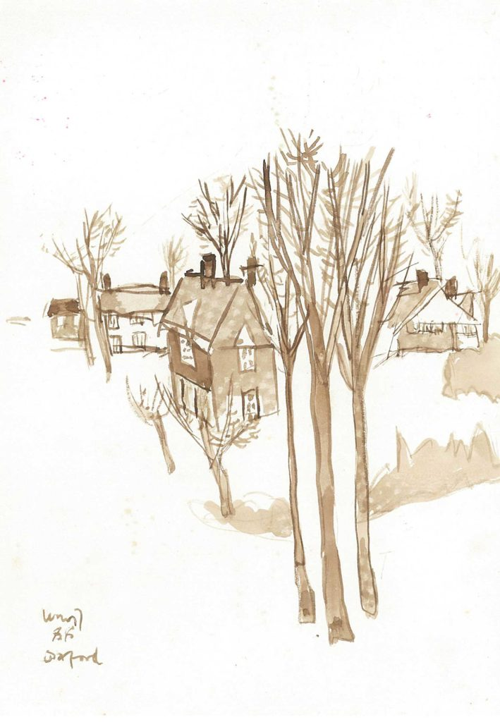 <em>Oxford 30</em>. Watercolour on paper, 5.75 x 8.25 inches, 1988