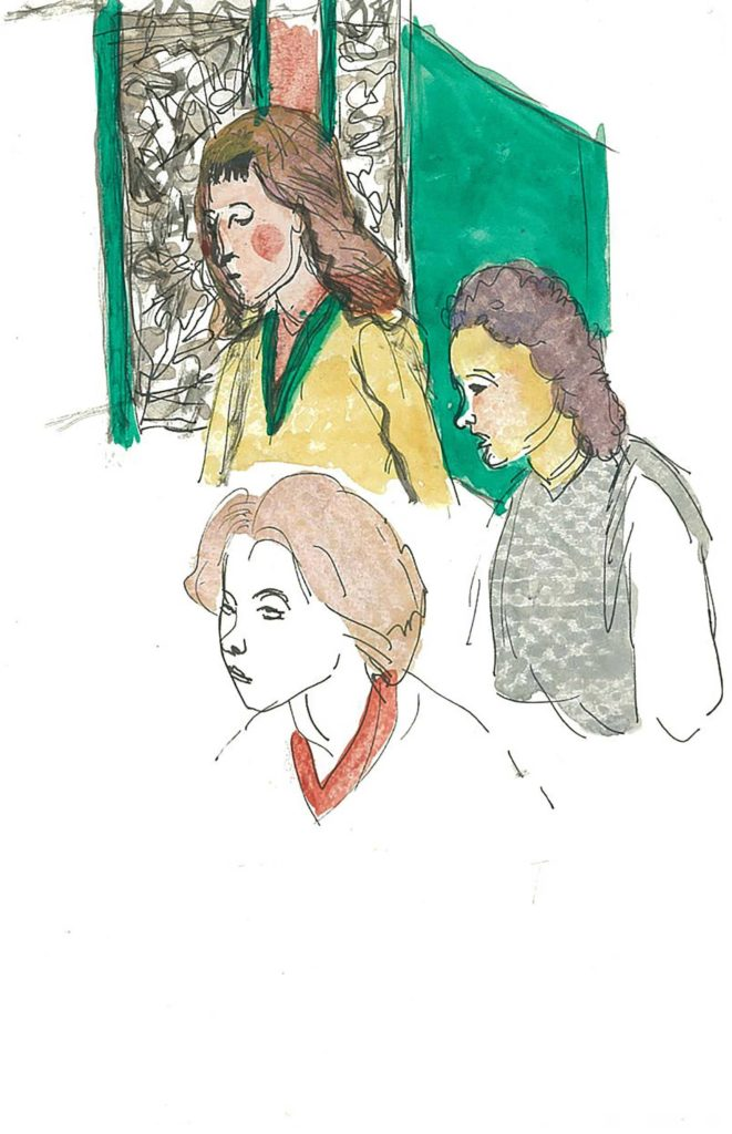 <em>Oxford 49</em>. Pen and watercolour on paper, 5.25 x 8.25 inches, 1987/88