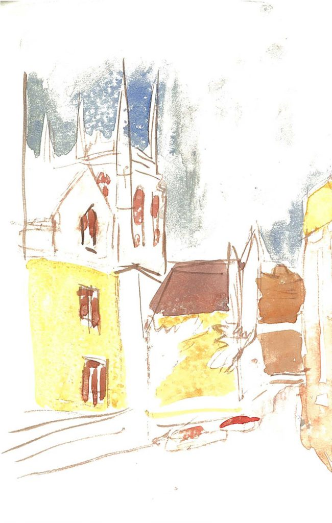 <em>Oxford 56</em>. Watercolour on paper, 5.25 x 8.25 inches, 1987/88