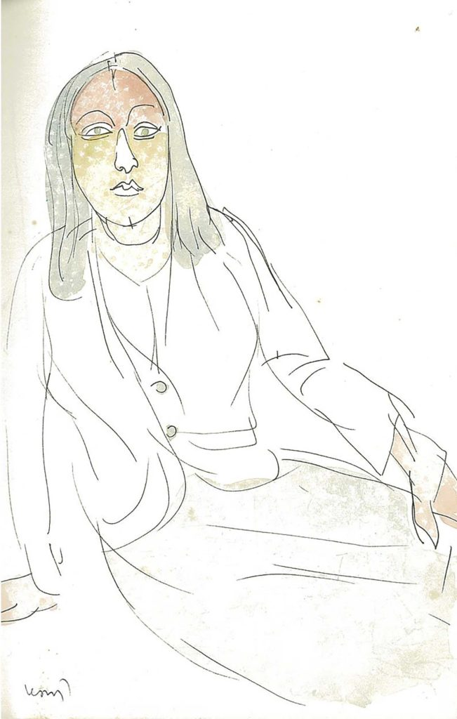 <em>Oxford 59</em>. Pen and watercolour on paper, 5.25 x 8.25 inches, 1987/88