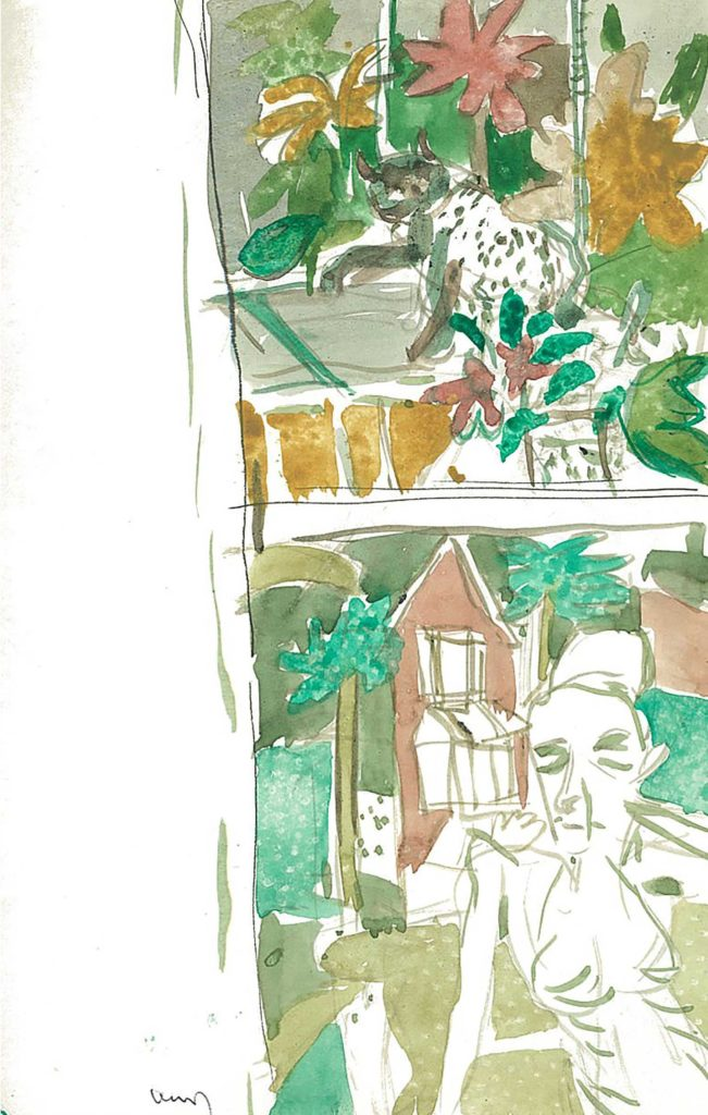 <em>Oxford 61</em>. Watercolour on paper, 5.25 x 8.25 inches, 1987/88