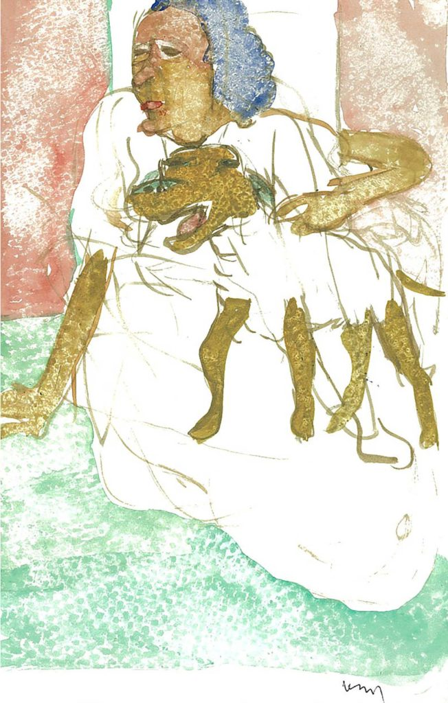 <em>Oxford 62</em>. Watercolour on paper, 5.25 x 8.25 inches, 1987/88
