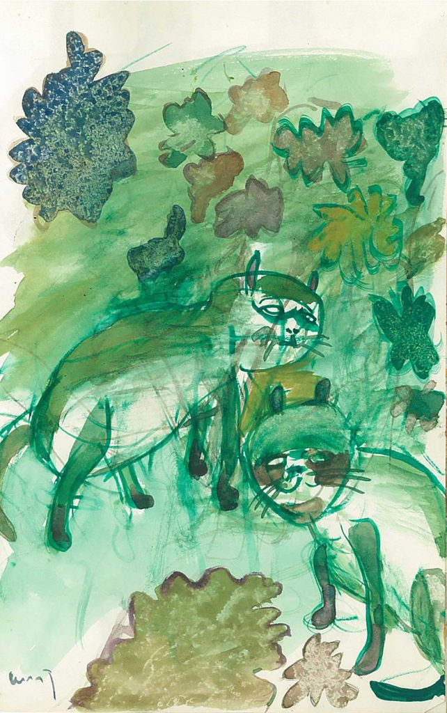 <em>Oxford 64</em>. Watercolour on paper, 5.75 x 8.25 inches, 1987/88