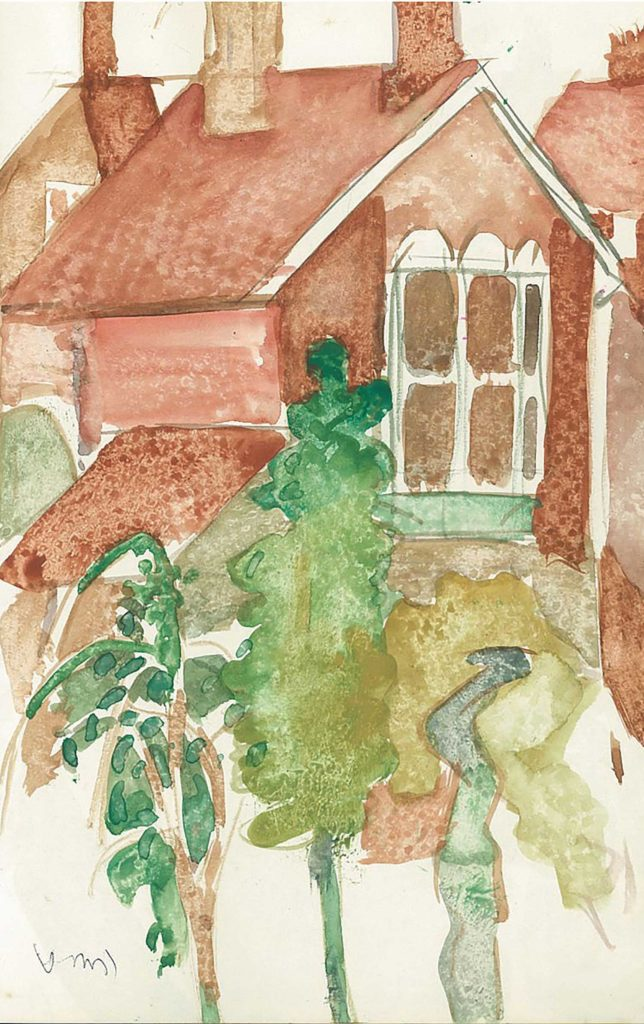 <em>Oxford 65</em>. Watercolour on paper, 5.25 x 8.25 inches, 1987/88