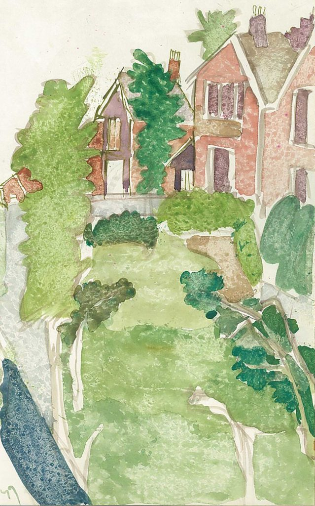 <em>Oxford 66</em>. Watercolour on paper, 5.25 x 8.25 inches, 1987/88
