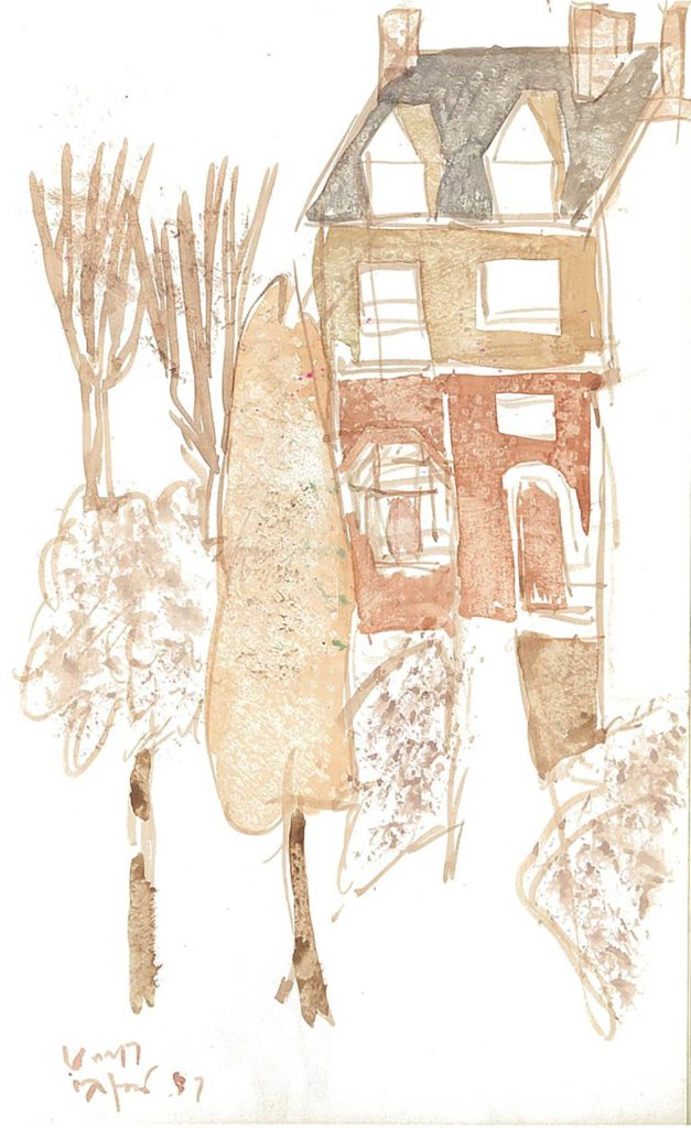 <em>Oxford 67</em>. Watercolour on paper, 5.25 x 8.25 inches, 1987/88