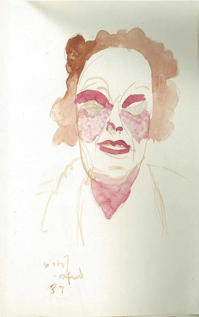 <em>Oxford 87</em>. Watercolour on paper, 5.25 x 8.25 inches, 1987