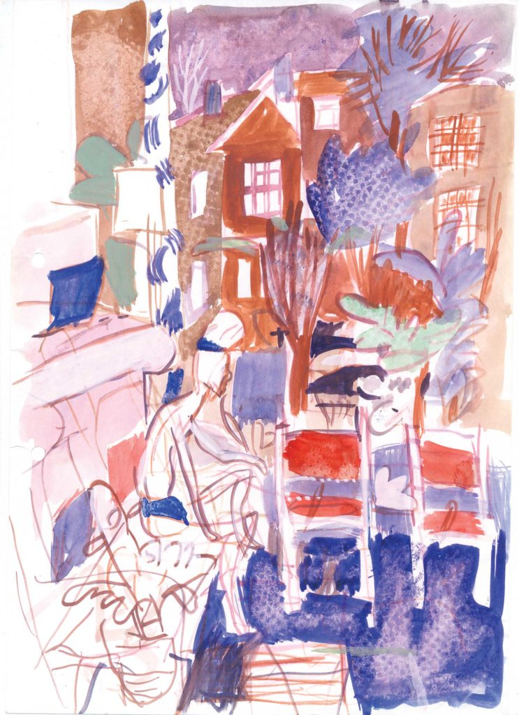 <em>Oxford 135</em>. Watercolour on paper, 7 x 9 inches, 1987