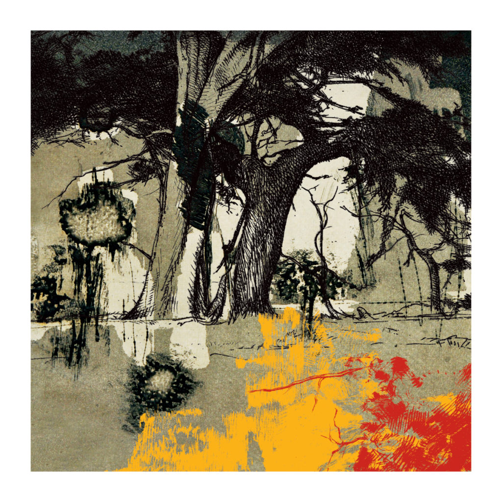 The Trees Back Home.  35 x 35 inches, Rs 1,00,000 [Limited edition of 7]
